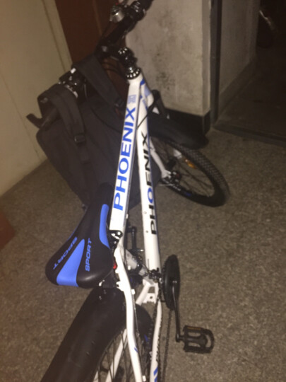 凤凰(PHOENIX) 山地自行车成人男女单车26/27.5寸公路变速21/30速减震双碟刹通勤车 27速悍马--黑蓝 27速顶配 晒单图