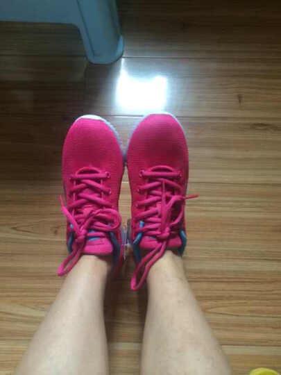 鸿星尔克erke跑步鞋女鞋波点休闲运动鞋轻便慢跑旅游鞋 正白/蝴蝶紫 37 晒单图