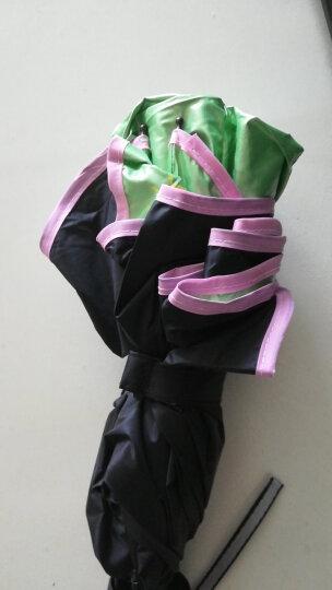 天堂伞 三折黑漆钢骨彩胶防紫外线UPF50+遮阳伞 韩式公主太阳伞时尚女士配饰 嫩绿色B 晒单图
