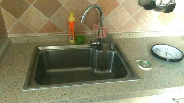 华帝(VATTI) 华帝卫浴 厨房水槽带刀架双槽304不锈钢洗菜盆洗碗池 H-A2021(78)-Q.1水槽 晒单图