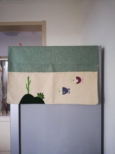 欣伊 布艺拼布冰箱罩带收纳袋双开门冰箱巾盖巾盖布 对开门防尘罩 小鱼 左右对开门(177*67Cm ) 晒单图