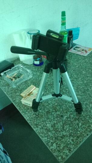 多宝莱 X9拍照主播手机三脚架床头直播支架三角架桌面户外懒人相机便携自拍火山小视频抖音西瓜视频 升级版1.3米三脚架 晒单图
