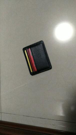 巴适 小卡包男士超薄真皮多卡位卡片包银行卡包名片夹卡夹卡套0.2 黑色花皮 晒单图