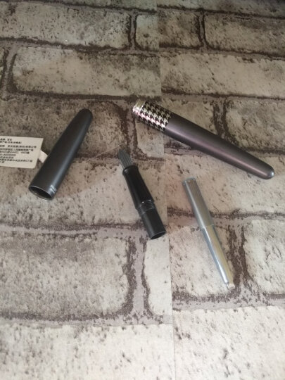 日本百乐(PILOT)88G钢笔商务签字笔 金属笔杆墨水笔练字学生钢笔礼盒FP-MR3 灰千鸟格M尖 原装进口 晒单图