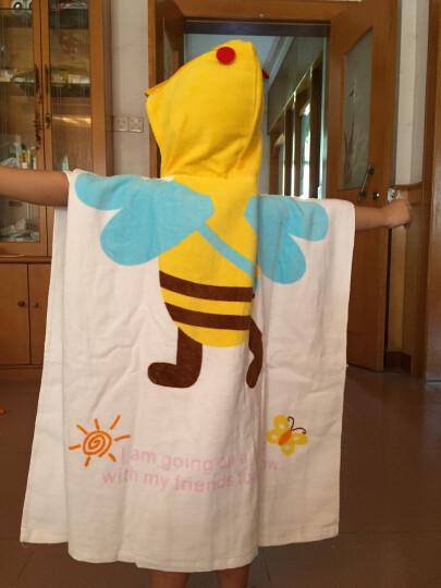 斌尼丫(vivo-biniya) 韩版造型纯棉卡通造型儿童泡温泉浴巾婴幼儿宝宝沙滩浴袍游泳毛巾 猫头鹰造型浴巾 晒单图