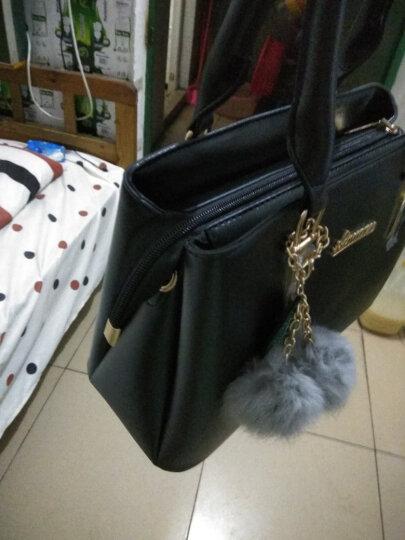 Banaroo女包新款单肩包女2018韩版潮流斜跨杀手包新款简约时尚手提包 玫红 晒单图