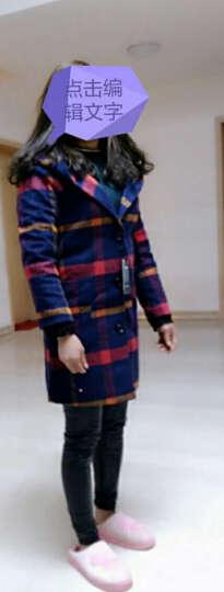 文瑞衣舍2017秋冬新款女装韩版修身大码中长款妮子大衣潮外套毛呢大衣女 红色 XL 晒单图