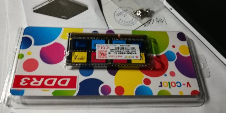 全何(V-Color) 低电压版 DDR3  1600 8GB 笔记本内存 彩条 晒单图