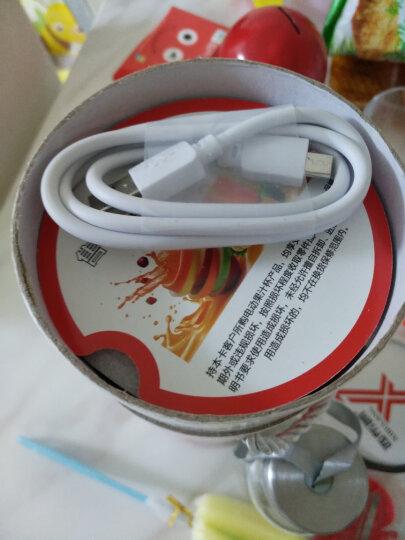 西布朗(XIBULANG) 充电式便携榨汁杯电动迷你果汁玻璃料理杯功能小型榨汁机家用宿舍婴儿辅食 绿色 晒单图