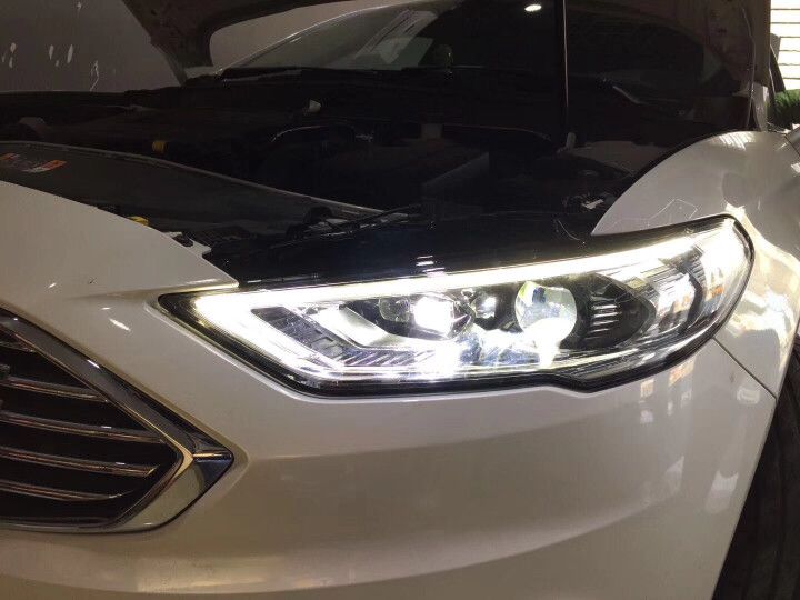 13-16-17-18款福特新蒙迪欧大灯总成改装Q5透镜高配LED流光泪眼日行灯氙气前灯尾灯总成 13-16款全LED总成1只 晒单图