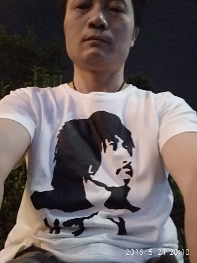 东钧 音乐摇滚 冷血动物 谢天笑 男女夏款潮短袖T恤文化衫 加肥加大 红色 L码(适合130至150斤) 晒单图