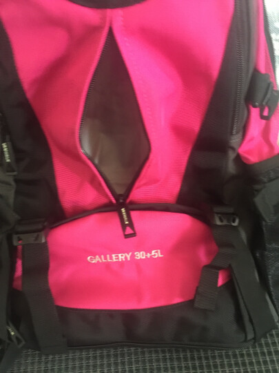 vanwalk 大容量可扩容休闲旅行包行李袋背包双肩包男旅游包学生书包健身包运动包笔记本包 玫红扩容 晒单图