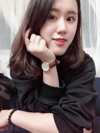 依伦(EREN)手表女士超薄简约时尚休闲石英韩版防水皮带学生新款情侣腕表网红同款 E9309L钢带 晒单图