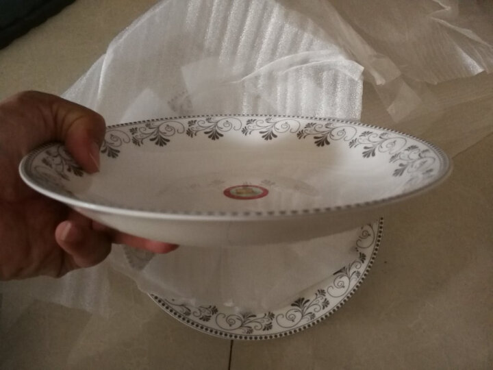 雅诚德日式餐具陶瓷菜盘家用繁花似景创意碟子套装饭盘7英寸4只 晒单图