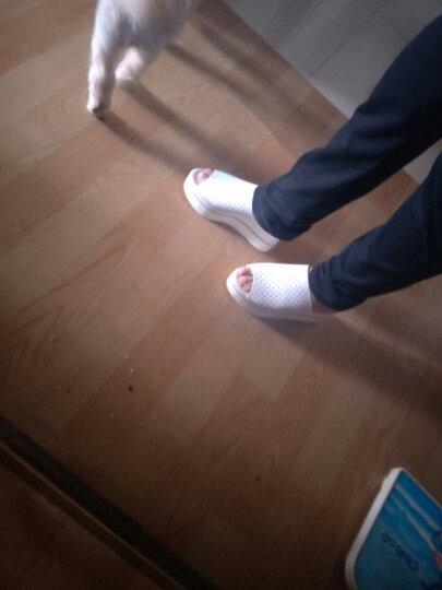 NISIT 夏季新款韩版女鞋子凉拖鞋女外穿厚底一字拖鞋内增高高跟休闲坡跟沙滩鞋女防水台 时尚黑 34 晒单图