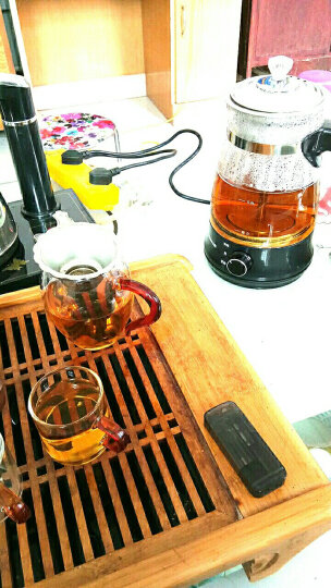 志高(CHIGO) 黑茶壶煮茶器蒸汽喷淋玻璃壶电热水壶电煮茶壶全自动保温泡茶养生壶Z506 经典黑公道杯套装 晒单图