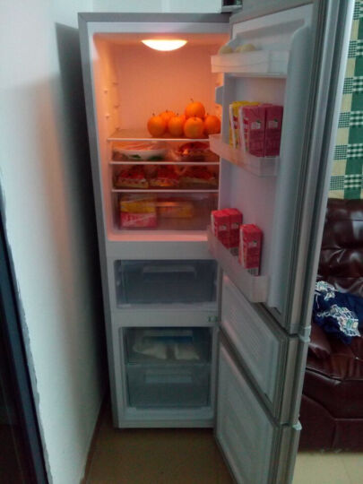 康佳(KONKA)192升 三门冰箱 家用小型 电冰箱 软冷冻室 节能保鲜 静音省电(银色)BCD-192MT 晒单图