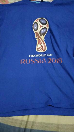 络绎2018俄罗斯世界杯短袖t恤男体恤半袖情侣装上衣潮牌衣服运动 黑 XL 晒单图