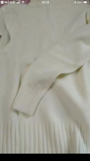 mineeor2017秋冬新款高领毛衣女针织衫套头韩版大码弹性百搭修身显瘦打底 白色 纯色均码85斤-135斤 晒单图