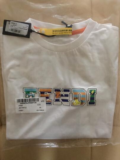 FENDI芬迪男装 男童短袖T恤 JMI0987AJ 黑色 6A 晒单图