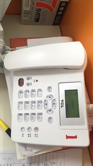 TCL CF203C无线插卡座机电话机移动固话办公家用无绳支持电信手机卡SIM卡(白色) 晒单图