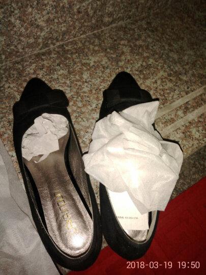 莱卡金顿单鞋女2018春夏季新款尖头方跟一字式扣带包头女鞋防水台女鞋子 LK65L10P金色 38 晒单图