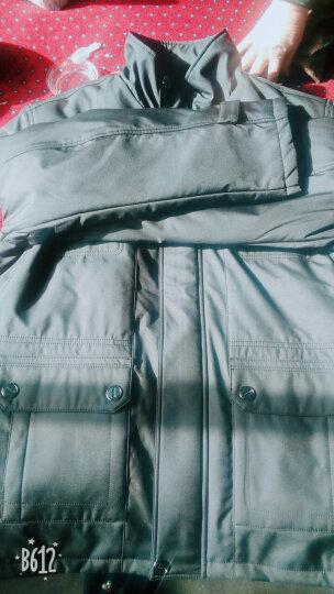 万龙发中老年棉衣男加厚加肥加大码中年爸爸装冬装中长款外套老人棉袄可脱卸棉服男 黑灰色 XL(135-150斤) 晒单图