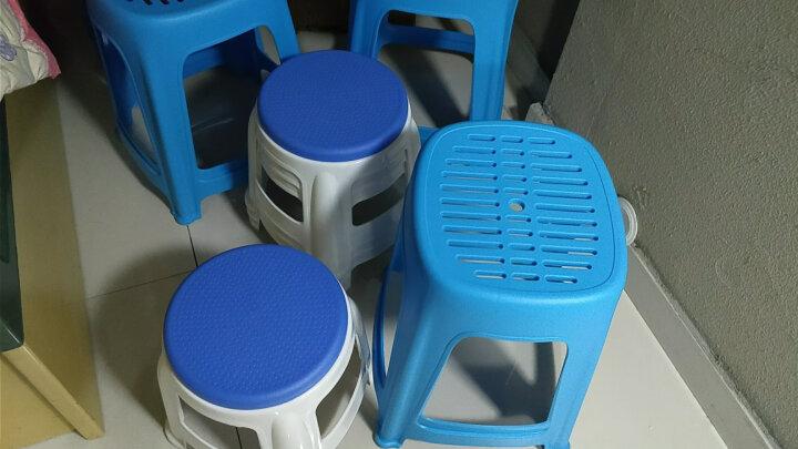加厚型塑料凳高凳时尚餐桌凳浴室凳创意凳子条纹胶凳个性创意椅 两个起售,下单一个不发货 蓝 色 晒单图