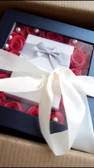 I'M HUAHUA生日礼物女生情人节纪念日礼物送女友老婆创意礼品玫瑰花永生花礼 创意香皂玫瑰花耳钉礼盒夜灯款1550 晒单图