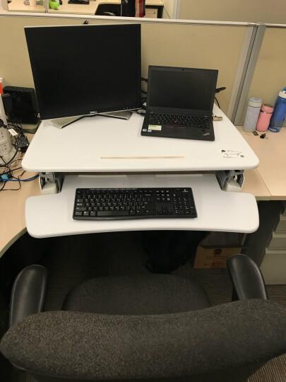 乐歌(Loctek)站立办公升降台式电脑桌 笔记本办公桌 可移动折叠升降家用升降台书桌 M1M白 晒单图