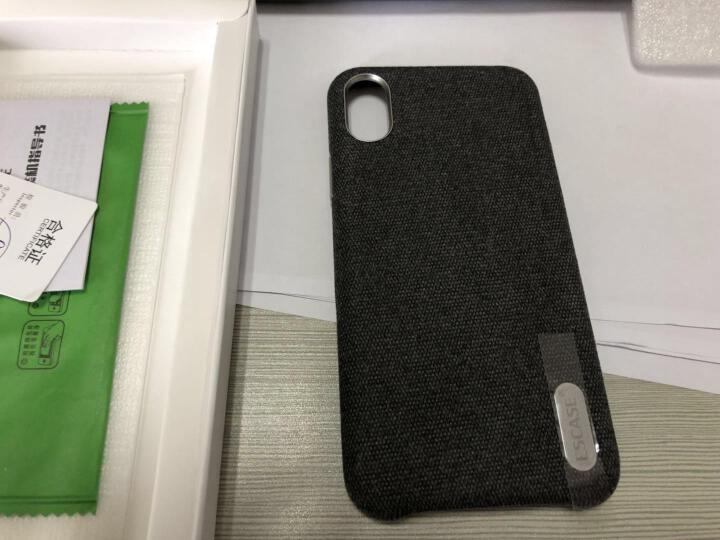 ESCASE 苹果X手机壳 iPhone X/10手机套 5.8英寸混纺毛绒精纺布艺全包防摔保护壳 铝合金按键 商务版爵士黑 晒单图