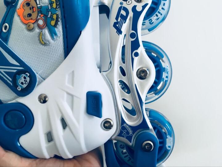 小状元享乐溜冰鞋儿童轮滑鞋全套装女童滑冰鞋小孩直排轮男宝宝旱冰鞋可调 粉色丨套装(含护具头盔+双肩包) S(实际27-32) 晒单图