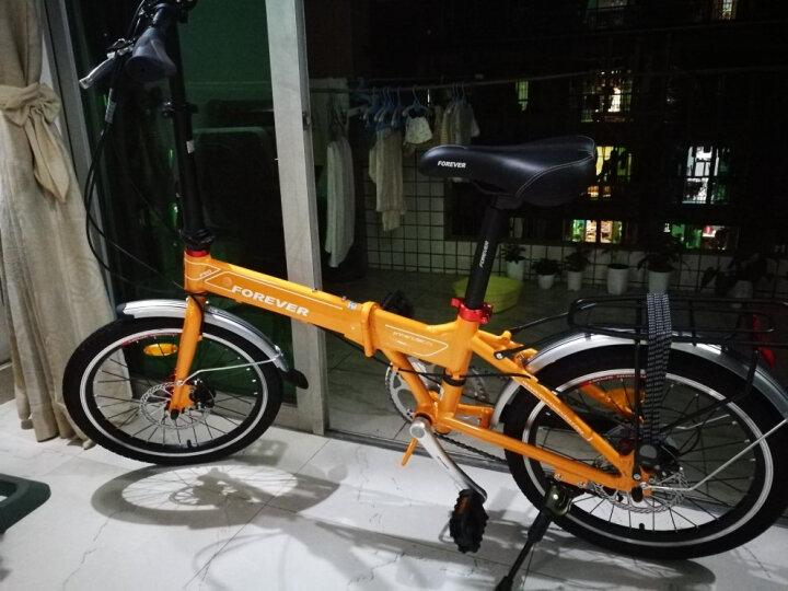 永久20寸铝合金折叠自行车 7级禧玛诺变速 禧玛诺飞轮 双碟刹 铝合金花鼓 男女式公路山地车F20 芒果黄 晒单图