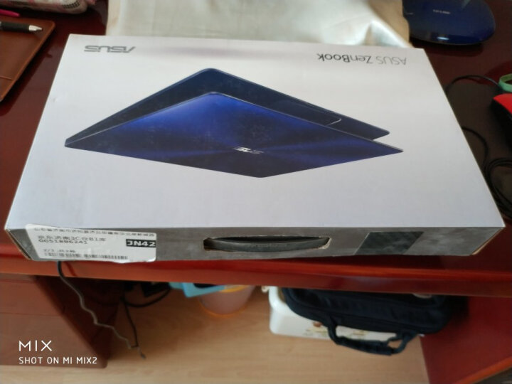 华硕(ASUS) 灵耀U 13.3英寸超窄边框超轻薄笔记本电脑(i7-8550U 8G 512GSSD MX150 2G IPS)尊爵蓝(U3100) 晒单图