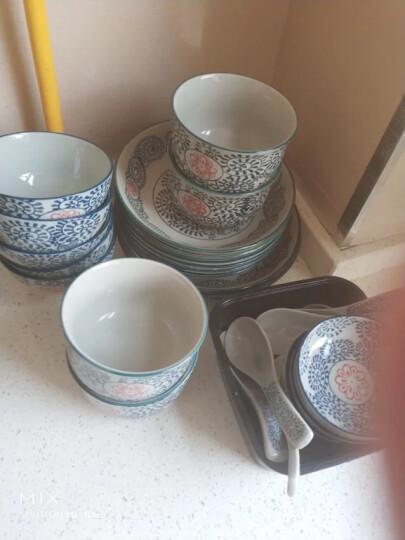 山田烧陶瓷餐具套装 日式餐具釉下彩(8头)和风碗碟餐具套装 古塘草 晒单图