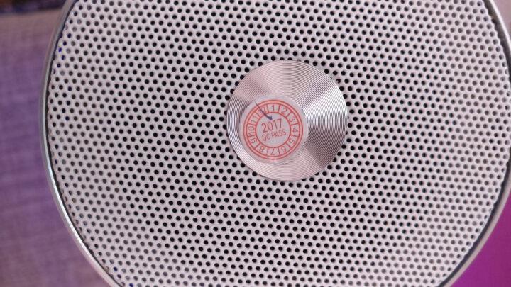 蓝悦(LEnRuE)M4 蓝牙音箱 音乐脉动炫彩迷你音响 电脑音箱便携插卡低音炮 防水 橙色 晒单图