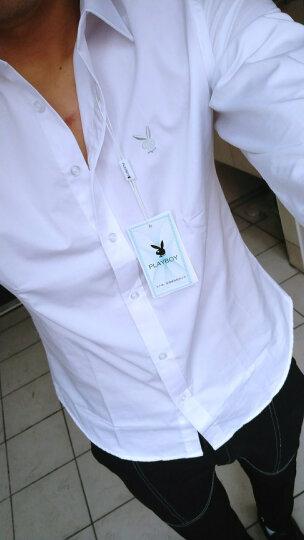 六鑫短袖衬衫男 夏季新款青年纯色免烫抗皱休闲商务长袖衬衣男职业装男装 白色短袖 M-165 晒单图