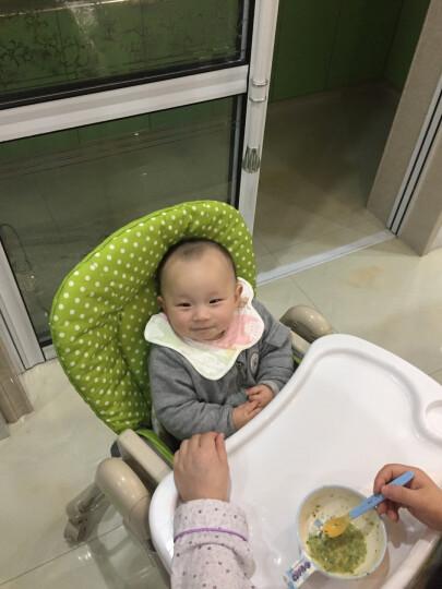佳田(JUSTIN) 【买一送三】可折叠儿童餐椅 婴儿餐桌椅宝宝吃饭多功能座椅子 绿色波点 晒单图