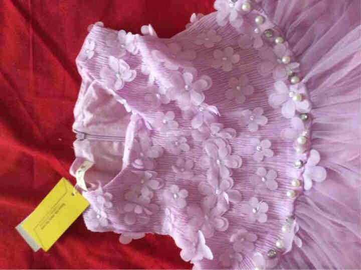童装女童夏季连衣裙2018新款儿童背带公主裙女孩礼服裙子 A款 紫色 140码建议身高130cm 晒单图