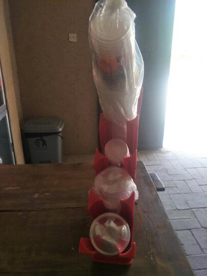 远岸 咖啡奶茶店取塑料纸杯放一次性杯子分杯器亚克力外带杯架竹制收纳盒奶茶店用水杯架收纳盒 一体成型吸塑杯架绿色 晒单图