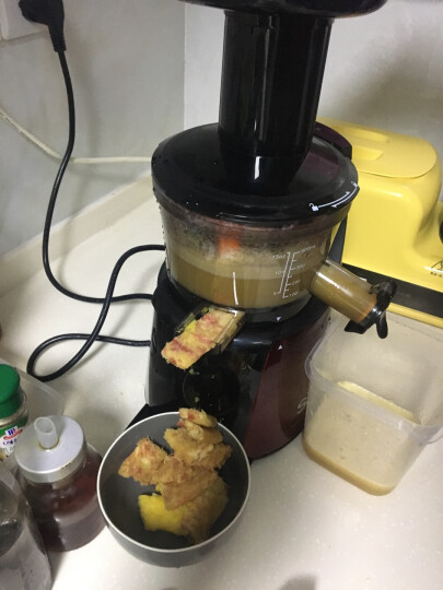 SKG 多功能原汁机低速榨汁机多功能家用料理机果汁机2059 红色 晒单图