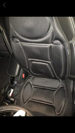 COMFIER冬季汽车坐垫 电动加热按摩多功能座椅垫 车载家用 黑色平板布-腰部座部加热按摩 晒单图