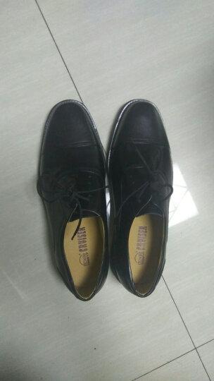 3513巡洋舰皮鞋男正装皮鞋大码男鞋军鞋三接头皮鞋男校尉皮鞋系带291D 黑色 44 晒单图