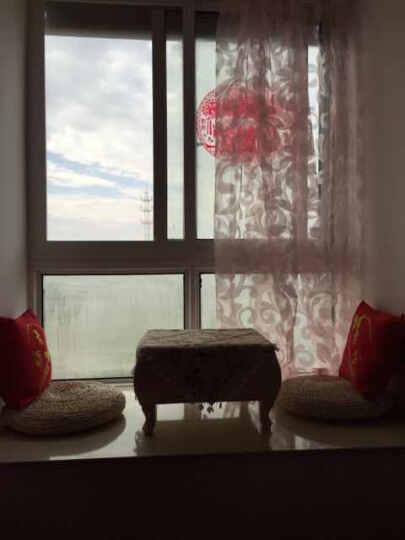 中彩 创意竹编 手工草编竹编榻榻米小茶几电脑桌阳台矮茶几 飘窗桌 茶艺桌 白色竹编方桌+2个丝棉蒲团 晒单图