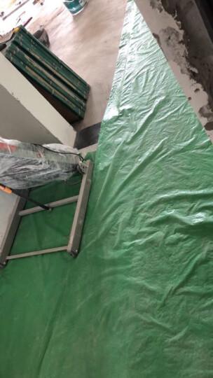 装修地面保护膜木地板瓷砖门窗地毯PVC复合针织棉防护垫厚双层 110g编织布不带棉,50平方 晒单图