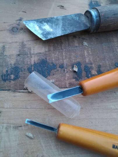 日本进口QTS利刃木刻刀专业手工橄榄核雕刻刀 木雕微雕板画雕刻刀木工刻刀具 4号平口 晒单图
