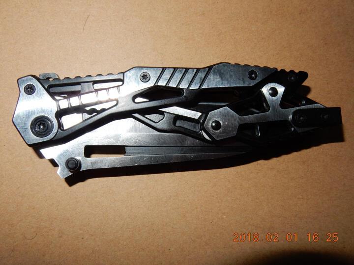 户外刀具折叠刀军刀小刀高硬度户外刀野营刀折刀防身刀水果刀 机械黑钢款 晒单图