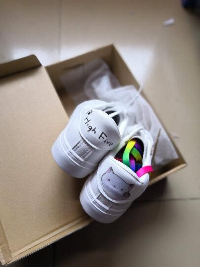 爱尊仕(AIZUNSHI)小白鞋女2019春夏季新款休闲鞋女韩版板鞋女学生平底女鞋子 白月-叶子 38 晒单图