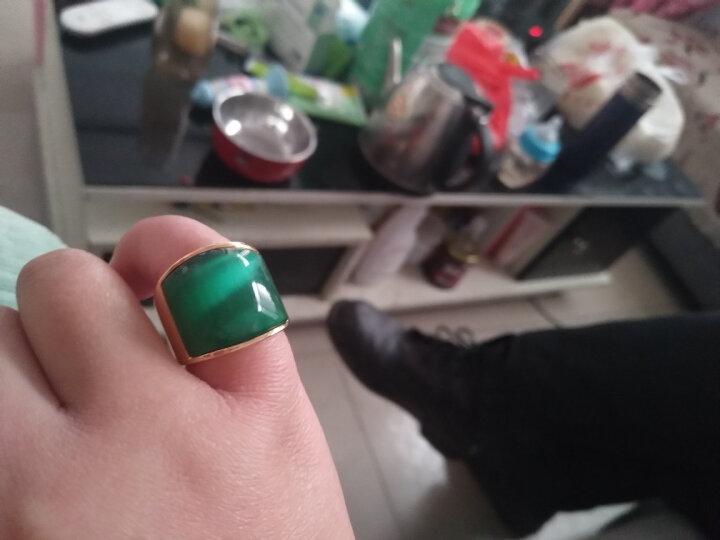 添百丽钛钢男士戒指 时尚霸气潮个性单身食指镀真金款 霸气戒指08号 晒单图
