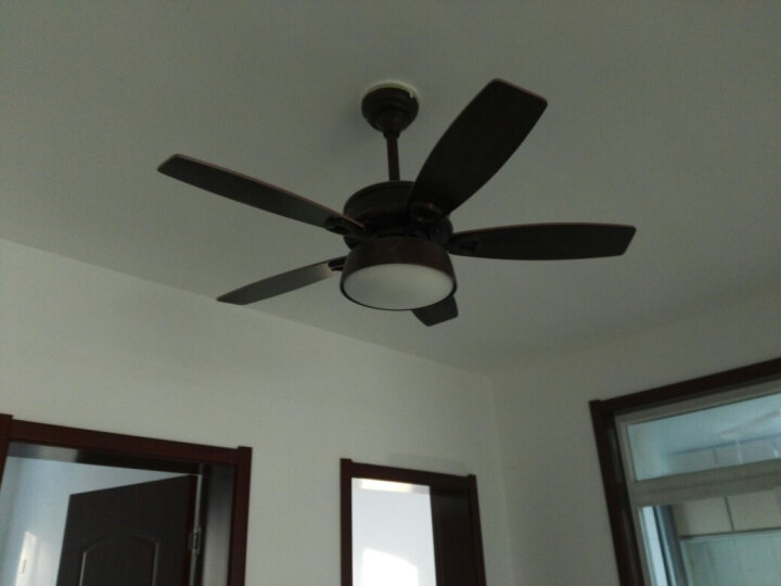 风扇灯餐厅吊扇灯客厅卧室欧式带电风扇简约现代灯具 需要四叶加40元,联系客服补价 42寸107cm适用8-12平米 晒单图
